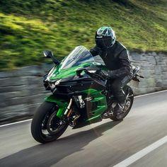 Supercharged sportbike performance meets ride comfort with the 2018 Ninja SX. Ducati, Honda, Biker, Sportbikes, Kawasaki Ninja, Motorcycle, Instagram, Vehicles, Speed Dating