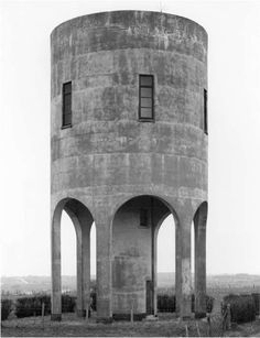 Water Tower, photography by Bernd and Hilla Becher, in Diepholz, Germany. - Water Tower, photography by Bernd and Hilla. Concrete Architecture, Industrial Architecture, Architecture Plan, Interior Architecture, Classical Architecture, Amazing Architecture, Interior Design, Hilla Becher, Modernisme
