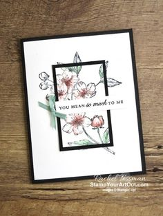 Stampin' Up! Blossoms Florist, Paris Cards, Online Paper, Valentine Theme, Valentines, Pen And Watercolor, Fun Fold Cards, Flower Center, Stamping Up Cards