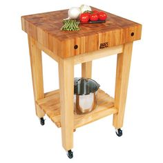 Boosblock Kitchen Cart With Butcher Block Top