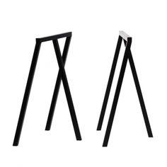modern sawhorse table legs - yes please!