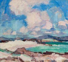 Samuel John Peploe (Scottish, 1871-1935), Clouds and Sky, Iona, 1928. Oil on canvas, 40.7 x 45.7 cm. Hunterian Art Gallery, University of Glasgow.