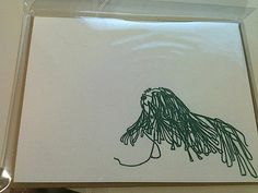 Items similar to komondor puli card on Etsy Puli Dog, Komondor, Herding Dogs, Dog Show, Pictures Of You, Dog Art, Letterpress, Note Cards, Dog Breeds