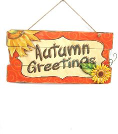 Autumn Greetings Wall Plaque
