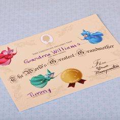 Free #Printable World's Greatest Grandmother Certificate - doing-disney.com #MothersDay #Disney