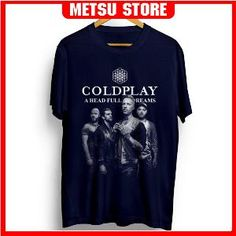 Kaos Band Coldplay A Head Full Of Dreams Raster Donker Metsu Store ( Cold Play Live In Singapore 2017 Concert )
