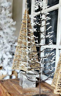 Winter decor trees