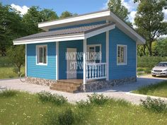 Box House Design, Shed Design, Small House Design, Home Building Design, Home Design Plans, Building A House, Dream House Plans, Small House Plans, Tyni House
