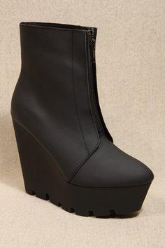 Cheap Monday Moonlit Black Zip Boots
