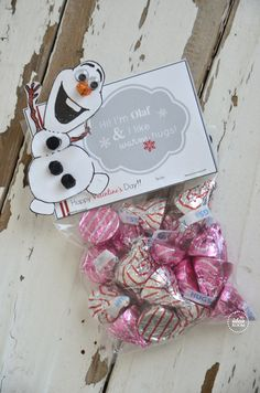 Free printable #frozen #olaf #Valentines | theidearoom.net