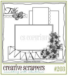 Creative Scrappers #203 sketch