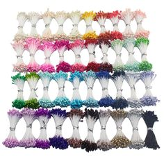3 мм многоцветный DIY жемчужина цветок тычинки твист галстук определена 40 цветов сахар цветочные тычинки ( 3400 шт./лот ) купить на AliExpress
