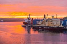 At the Murmansk port • AirPano.com • Photo. (Arctic)