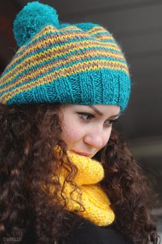 Chunky knit infinity scarf Hand knitted scarf Knit by Nastiin