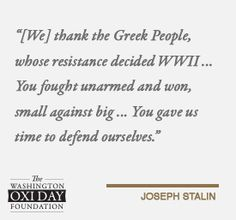 Quotes From World Leaders | The Washington Oxi Day Foundation