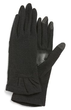 Echo 'Touch - Ruffle' Tech Gloves available at #Nordstrom Size Small in Heather Gray