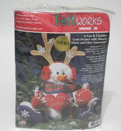 Snowflake Play Kit Snowman Simple Stitch Glue Felt Christmas Decor Dimensions #Dimensions