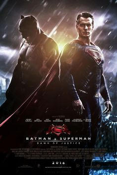 Batman v Superman: Dawn of Justice (2016) PG-13 | 2h 31min | Action, Adventure, Sci-Fi | 25 March 2016 (USA) - Fearing that the actions of Superman are left unchecked, Batman takes on the Man of Steel, while the world wrestles with what kind of a hero it really needs.