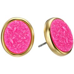 Kate Spade New York All That Glitters Druzy Stud Earrings Earring featuring polyvore, fashion, jewelry, earrings, pink, drusy earrings, colorful stud earrings, pink druzy earrings, druzy earrings and post earrings