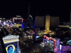 Las Vegas strip at nighttime - 2014