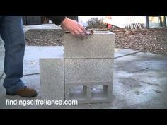 DIY Cinder Block Rocket Stove for under $8