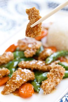 Takeout-shmakeout. Make this Sweet Chili Sesame Chicken for dinner tonight!