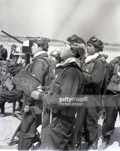 Kamikaze pilots are seen before departure at the Imperial Japanese Army Air Force Chiran Air Base circa April 1945 in Chiran Kagoshima Japan The air...