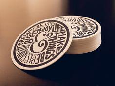 Dribbble - Ampersand Lifestyle Letterpress Coaster by Sean McCabe