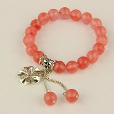 PandaHall Jewelry—Fashion Gemstone Stretchy Bracelets with Tibetan Style Pendants | PandaHall Beads Jewelry Blog