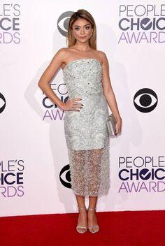sarah hyland silver dress 2017