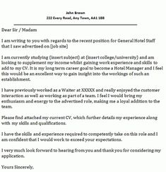 40 Best Cover Letter Examples images | Cover letter example ...