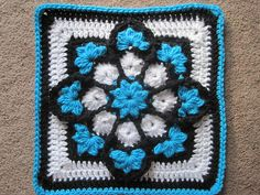 JulieAnny's Stained Glass Crochet Afghan Square by Julie Yeager