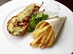 Lovely, lovely lobster and chips - served daily in The Northall - delicious!