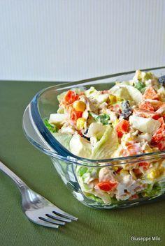 insalata di pollo estiva Carne, Vegetarian Recipes, Healthy Recipes, Fish Dishes, Antipasto, Finger Foods, Salad Recipes, Buffet, Food Porn