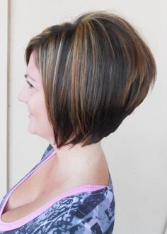 stacked bob - i like the shape in the back & color   My Style