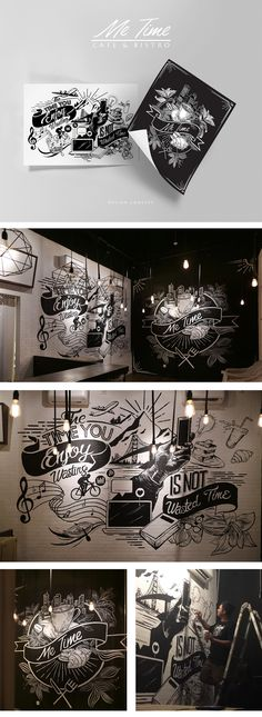 Coffee wall art 34 Trendy Wall Illustration Cafe Coffee Shop A Delicious Companion To Good Hea Mural Cafe, Cafe Art, Coffee Shop Design, Cafe Design, Interior Design, Graffiti Cafe, Doodle Wall, Coffee Painting, Wall Drawing