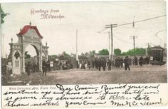 1906 Wisconsin State Fair Postcard - Back