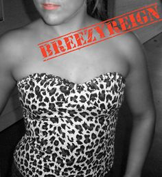 cheetah print strapless studded bustier for day or nightime fun!   by BreezyReign, $23.00