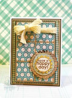 Yes, I think I will have a happy day.  Made by Tobi Crawford with the Bright Idea stamp set from TechniqueTuesday.com.