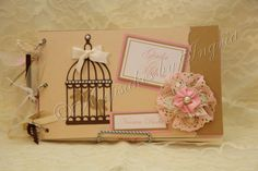 #shabbychic #wedding #guestbook #memorybook   go see my creations at https://www.facebook.com/pages/Keepsakes-by-Ingrid/160451074008627