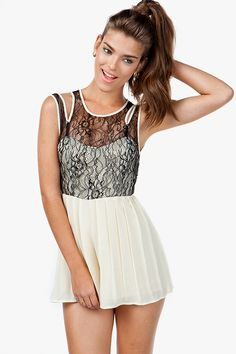CUT-OUT LACE + CHIFFON ROMPER