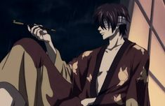 Gintama Gif, Random Gif, Anime Boys, Samurai, Knight, Smoking, Anime Art, Gifs, Manga