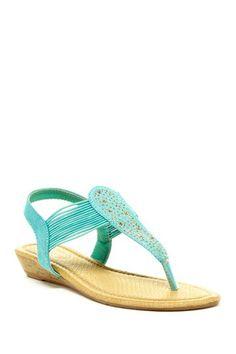 Carrini Rhinestone Wedge Sandal by Bucco on Rhinestone Shoes, Wedge Sandals, Fashion Beauty, Latest Trends, Wedges, Purses, Spring, Clothing, Summer