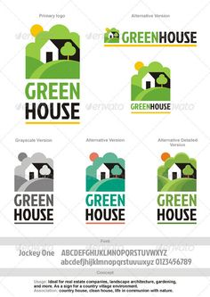Greenhouse Logo — Vector EPS #house logo #house • Available here → https://graphicriver.net/item/greenhouse-logo/2302563?ref=pxcr