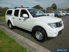 2012 Nissan Navara D40 MY12 RX (4x4) White Automatic 5sp A Dual Cab Pick-up #nissan #navara #forsale #australia