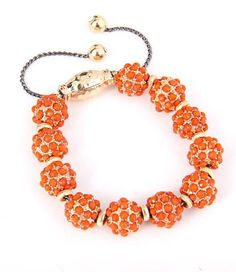 Shamballa Bracelet - orange - for the sacral chakra