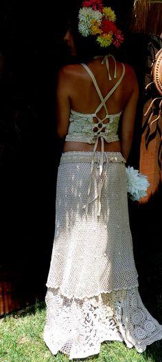 Bohemian Chic Wedding Dress Alternative Wedding Dress by MexiSoul