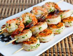 garlic & lemon shrimp kebabs Australia Day food.