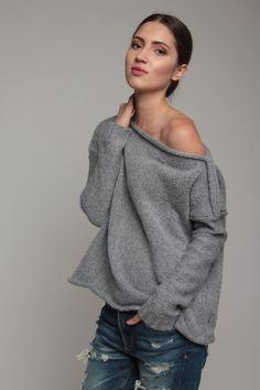 Les chandails de laine avec décolleté en forme par someconceptshop