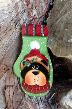 NEW 2015  Wooly Winter Bear Ornament by CountryCharmers on Etsy